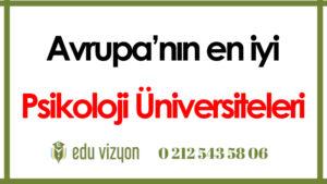 Avrupa'nın en iyi psikoloji üniversiteleri