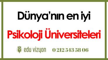Dünyanın en iyi psikoloji üniversiteleri
